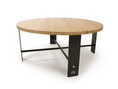 ilidesign.co.uk 'Fold' Collection Coffee Table - Black steel and Oak - £349…