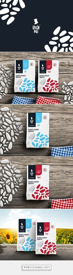 UncleAdi Sunflower Seeds - Packaging of the World - Creative Package Design Gallery - http://www.packagingoftheworld.com/2016/01/uncleadi-sunflower-seeds.html
