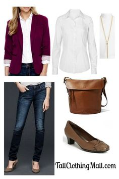 Burgundy Tall Blazer and Outfit - Tall Clothing Mall