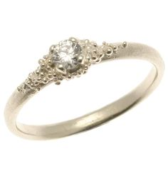 9ct white gold cluster diamond ring by Hannah Bedford