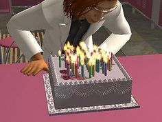 Mod The Sims - Two 'celebrate anytime' birthday cakes