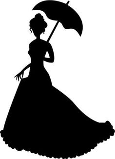 Life Size Victorian Woman Novelty Decals Vinyl Removable Silhouette Cut Out | eBay