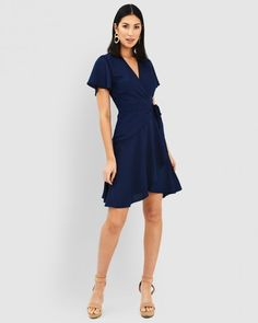 Clothing | Shop Womens Clothing | Forcast Basic Tops, Ruffle Skirt, Wrap Style, New Look, Work Wear, Knitwear, Wrap Dress, Fashion Dresses, Dresses For Work