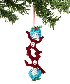 Look at this #zulilyfind! Thing One & Thing Two Ornament #zulilyfinds