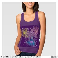 #ColorfulFireworks #PurpleRacerbackTankTop #SlimFit by #MoonDreamsMusic