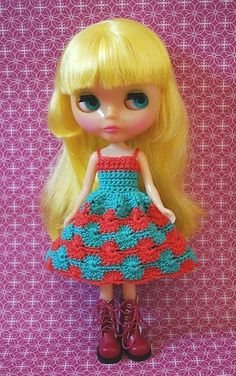 Customise your own Blythe crochet sun dress - you choose the colours