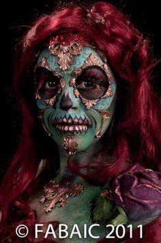 Sugar Skull ~ using our BodyFX Prosthetics