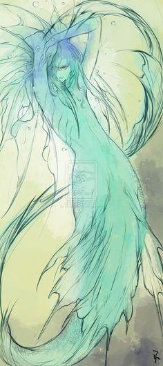 merman by HasaBattle on deviantART
