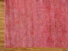 Overdyed Peshawar Pink 100% Wool 10'x14' Hand Knotted Oriental Rug SH15437 traditional-area-rugs