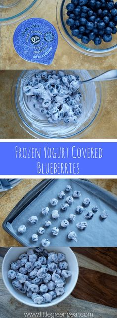 Frozen Yogurt Covered Blueberries. A great snack for your toddler.