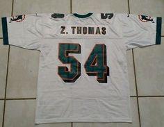 ab81178aa Rare Vintage NIKE Miami Dolphins Zach Thomas WHITE Jersey Men s XL
