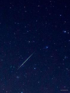Twitter / KAGAYA_11949: 今朝撮影したふたご座流星群の流れ星です。今夜も20時 ...