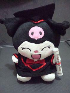 Graduation My Melody Kuromi Plush doll 10 Inch STYLE A