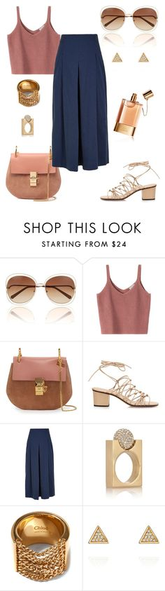 """""""Culottes."""" by schenonek ❤ liked on Polyvore featuring Chloé, TIBI and Chloe + Isabel"""