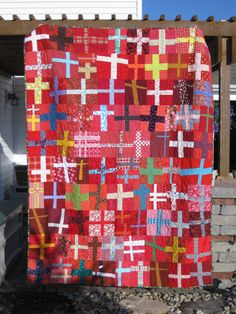 Great crosses quilt - love the wonkiness of it!
