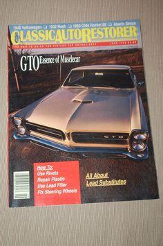 classic auto restorer #magazine june 1990 and june 1988 from $6.99