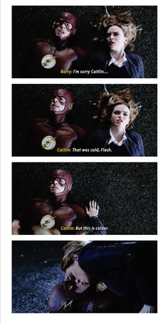 Cause ya know when killer frost kisses people they freeze Barry And Caitlin, The Flash Season 3, Flash Tv Series, Flash Funny, Black Spiderman, The Flash Grant Gustin, Cw Dc, Snowbarry, Superhero Memes