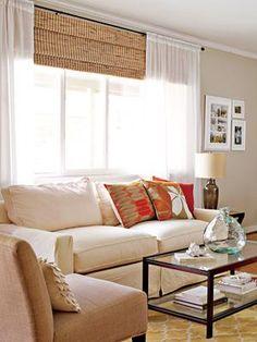 Neutral living room (image: David Land / The Nest)