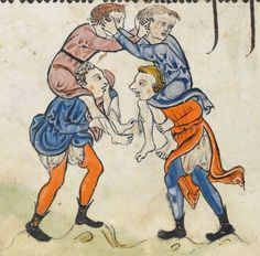 "Detail from ""The Rutland Psalter"", medieval (c1260), British Library Add MS 62925. f 70v"