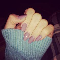 My new rose lavender almond acrylic nails!! I love them!