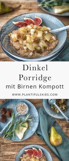 Schon Hildebgard von Bingen wusste um die Qualität von Dinkel. Als Porridge mit fruchtigem Kompott wird aus ihm ein vollwertig veganes Frühstück für einen gesunden Start in den Tag. Perfekt für einen guten Morgen.