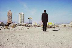 Robert Venturi outside Las Vegas in 1966; photograph from the Archives of Robert Venturi and Denise Scott Brown © Frank Hanswijk