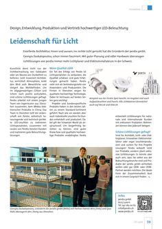 PR Bericht im Magazin ET Licht / Ausgabe 1 / Februar 2016