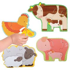 Petit Collage | Farm Babies Beginner Puzzle.