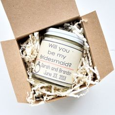 Sweet way to ask your girls to be by your side on your special day. Eco Friendly & gift ready in box. Once candle is finished burning, remove left over wick and wash with hot water & soap then reuse glass and grow flowers + herbs from the label. >Shipped via Priority 2-3day mail (over 1 lbs in total weight). >See front of shop update from production times or FAQ page on charlieandcrew.com. TO ORDER SELECT THE QUANTITY NEEDED THEN INCLUDE THE FOLLOWING WITH YOUR ORDER PLEASE! ...