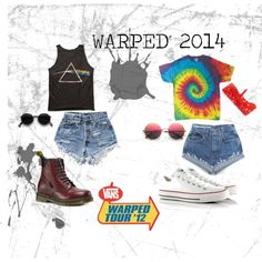 Minus the boots! You don't want to wear boots to Warped! Warped Tour by azlyn-grant, via Polyvore
