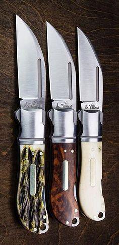 Andre de Villiers Swayback Lockback Knife Rosewood with Insert