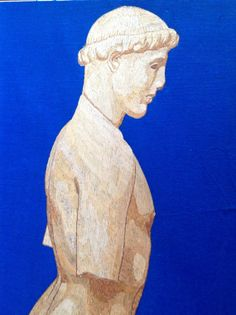 GREEK statue in rice straw art. Collectible leaf art by museumshop, $99.00 Have you SEEN ancient leaf art?  Can U BELIEVE it is made of leaves! I am an artist from Galveston, Texas.  UNIQUE, HANDMADE in USA  leaf art for your home, office or corporate gift needs visit www.etsy.com/shop/museumshop.