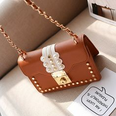 Korean version PU  fashion bag (brown)  NHTC1055-brown