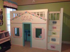 Cottage Loft Bed for little girl! Super cute!