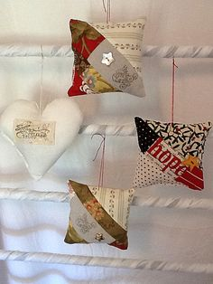 (Patchwork Ornament 1 of 2) by SheissewcrazyToo on Etsy