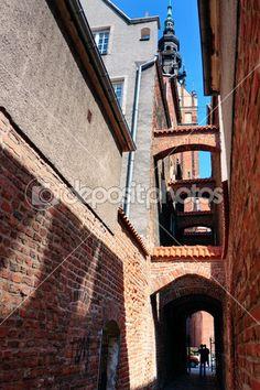 Secrets of City Poland, Paths, Medieval, Stock Photos, City, Illustration, Mid Century, Cities, Illustrations
