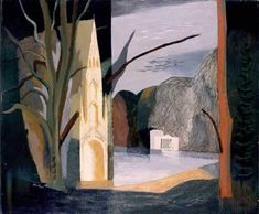 Autumn at Stourhead by John Piper 1939 Your Paintings, Landscape Paintings, Landscapes, John Piper Artist, Dulwich Picture Gallery, Art Uk, City Art, Abstract Art, Abstract Trees