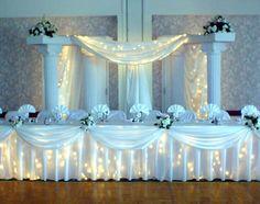roman columns for wedding photo | wedding column rentals seattle tacoma