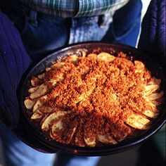 Apple Brown Betty - serve warm with vanilla sweetened whipped cream