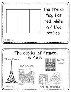 FRANCE BOOKLET (A COUNTRY STUDY!) - TeachersPayTeachers.com