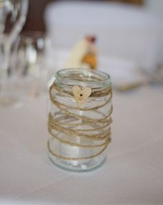 My home made tea light jars. Perfect for weddings and the home