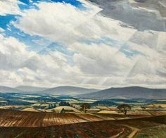 "Christopher Richard Wynne Nevinson (English): Oil Painting, ""Welsh Hills"" Century) [Swindon Museum & Art Gallery, U. Oil Painting Gallery, Art Gallery, Landscape Art, Landscape Paintings, Landscapes, Art Database, Oil Painting Reproductions, Art Uk, Modern Artists"
