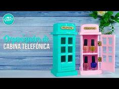 DIY Organizador de cabina Telefónica Inglesa con cartón | DREEN - YouTube
