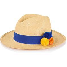 Prymal Brisa Weave Pom Pom Hat (9.295 RUB) ❤ liked on Polyvore featuring  accessories d14f8dd3f0b3