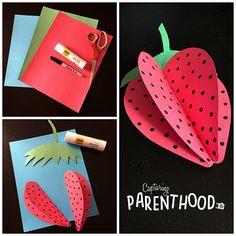 Paper Fruits for Summer © Capturing Parenthood Animal Crafts For Kids, Easy Crafts For Kids, Summer Crafts, Art For Kids, Diy And Crafts, Arts And Crafts, Fall Crafts, Paper Flowers Craft, Paper Crafts Origami