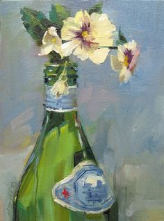 Pellegrino and Pansies by Mary Maxam