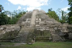 """Lamanai northern Belize Maya Temple Ruins - The vast majority of the site remained unexcavated until the mid-1970s. Archaeological work has concentrated on the investigation and restoration of the larger structures, most notably the Mask Temple, Structure N10-9 (""""Temple of the Jaguar Masks"""") and High Temple.twitter  @GMCGuys"""
