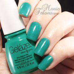 Gelaze Turned Up Turquoise #gelpolish #soakoffgel #Gelaze @China Glaze