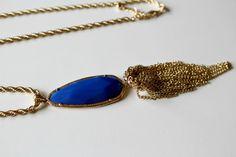 Favorite Tassel Necklace - Royal Blue