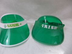 St. Patricks Day Irish visor you choose luck white trim Irish green trim New #BigLot